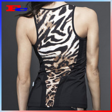 2015 high quality women sublimation print tank top women sport singlet ladies fitness vest whole sale yoga top