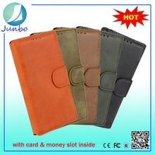 Stylish fancy custom leather wallet flip cover cases for nokia n8