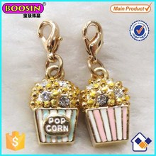 Fashion 3D Alloy Super Floating Food Popcorn Charm Pendant Wholesale #17708