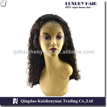 Grade 5A top quality human hair virgin peruvian lace front wig