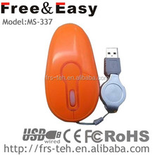 1600 CPI well design high performance wired laptop mouse