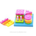 primaria los niños del bebé de madera educativos de apilamiento juguete bloques