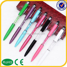 christmas decor crystal stylus ink pen
