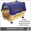 Factory price large sized plastic trolley pet carrier with wheels for sale