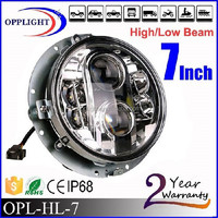 7inch angel eye headlight 7 inch round led headlight 12v 24v harley motorcycel led parts headlight