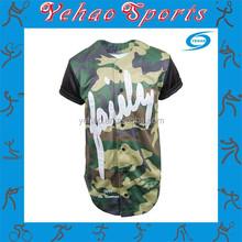 hot sale custom camo baseball jerseys