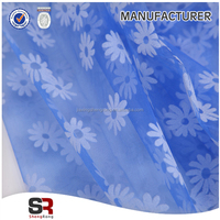 Matt Organza/Organdy Flocking Fabric For Party Dress