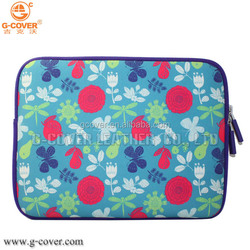G-Cover canvas fabric imprint flower case bag sleeve for 8.9inch~10.1inch tablet netbook