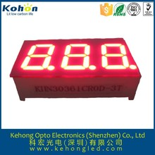 green color 0.39 inch led display: FND led 7segment display with 3 digits
