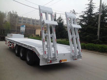 3 axles 60T low bed truck trailer with leaf spring suspension made in china
