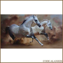Handmade hot sale horse oil painting of running horse for home decoration
