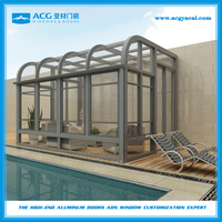 Outdoor glass winter garden room,Prefabricated garden glass house