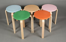 Restaurant wooden stool assorted colors