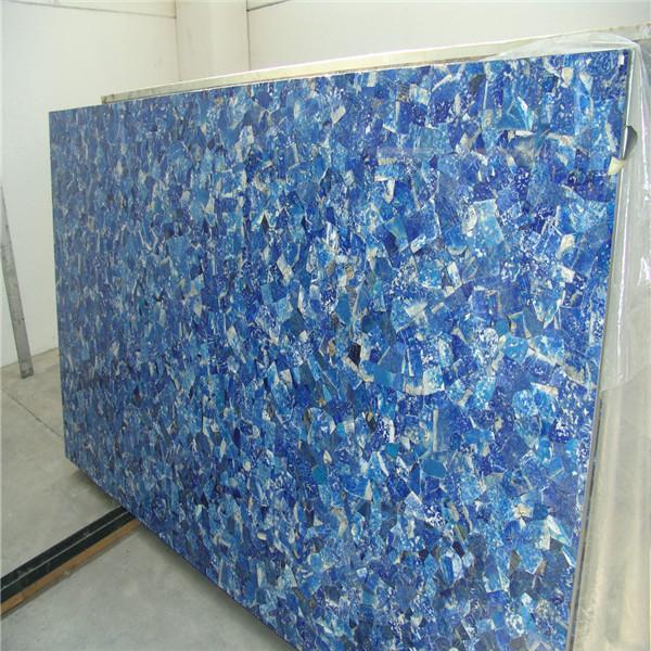 Blue Marble Slab : Natural lapis lazuli gemstone slabs blue semi precious