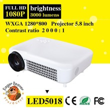 5.8 inch lcd TFT display Full Hd 1080p Led Projector 15 degree physical correction Home Theater Portable Projector