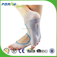 PORAY Grip toeless Low Rise yoga fittness Socks