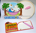 colorful prinnted China manufacturer magnetic message board& paper magnetic writing board with pen