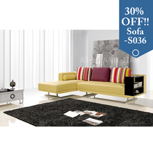 fashion corner 3 seater sofa with bookcase armrest and chaise lounge