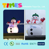Giant outdoor inflatable snowman with LED lighting