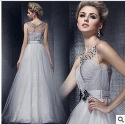 C64472A summer wedding dress Transparent long dress for women