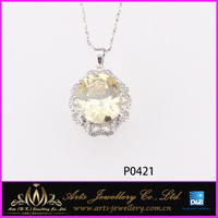 new design for sex young women gift silver pendants gemstone fashion jewelry