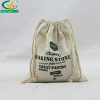 nature cotton bags drawstring with black printing