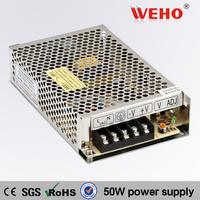 2015 HOT!!! 50W Single output power supply 24v led driver 2.1a