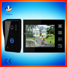 7 Inch Door Phone support cctv motion detector DVR video wireless intercom