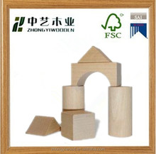 educational craft unfinished kids custom natural wooden block
