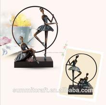 retro continental de hierro de imitación de resina figuras bailarina