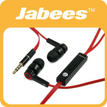 Jabees high quality stereo in-ear earphone with mic and volume control