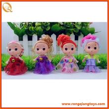 Plástico japonés mini amor muñecas artesanales 3 pulgadas mini muñecas del bebé DO9190258