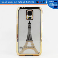 Tower PC Transparent Case for Sumsung S5, PC Protector case for Sumsung S5