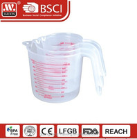 Plastic measuring cup 250ml 500ml 1000ml