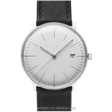 2015 moda de moda en blanco dial relojes reloj para hombre