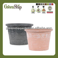 Garden Cemetery Deco Pot wholesale from Greenship /lightweight/20 years lifetime/eco-friendly/UV protective