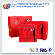 Luxury handbag shape wedding gift paper bag shopping bag