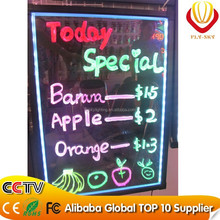 outdoor 40*60 size Aluminium alloy Frame and Mitsubishi hardening acrylic LED advertising board for promotion