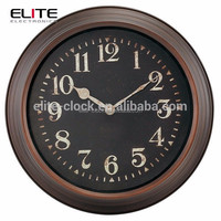 16 inch dia quartz metal world time clock