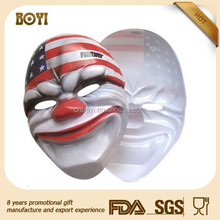 DIY OEM design eco-friendly PVC plastic funny mask