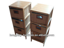 2015 hot sale walnut bamboo chest with drawer