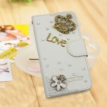DIY crystal diamond crown case for Huawei Ascend Y520 sparkling case