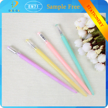 2015 newest products Candy color noctilucent chopsticks 0.5mm black ink plastic luminous ball pens for school supply
