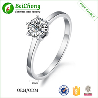 Cheap zircon stainless steel diamonds rings price latest design diamond ring