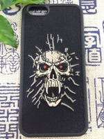 Embroidered cover ghost embroider cover imported material highly quality cover for mobile phone 6