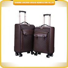 Designed Pu artificial leather luggage bag Made in China new products PU leather luggage bag sets alibaba supplier