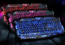 New Red/purple/blue Backlights Mechanical Sense Gaming Keyboard PC Keyboards for Dota2 for LOL Led Backlit USB Wired Keyboard