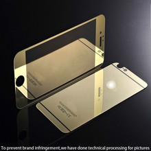 Hot selling premium Real 0.3mm 2.5D H9 plated colored mirror tempered glass screen protector,lcd screen protector