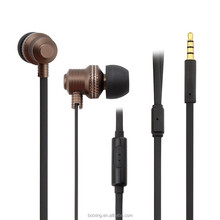 Wholesale new product 2015 fashion metal design high end in-ear earphone