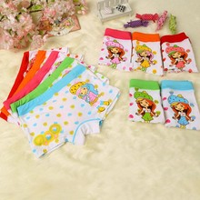 New Arrival Little Girls Underwear Models Strawberry Girl Pattern Children Modeling Panties Cute Kids Panties